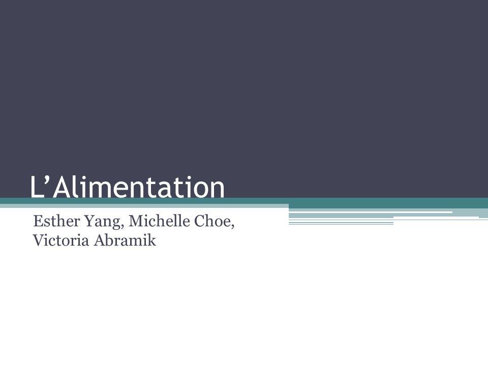 LAlimentation Esther Yang, Michelle Choe, Victoria Abramik
