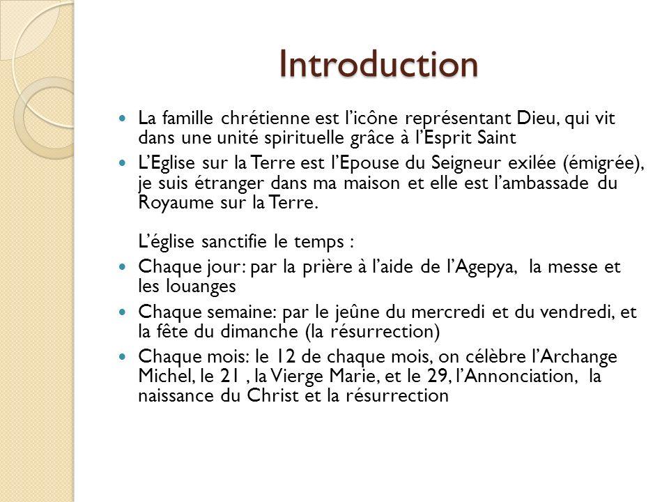 Introduction La famille chrétienne est licône représentant Dieu, qui vit dans une unité spirituelle grâce à lEsprit Saint LEglise sur la Terre est lEp