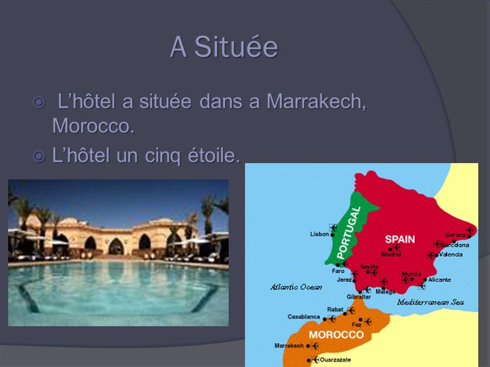 A Située Lhôtel a située dans a Marrakech, Morocco.
