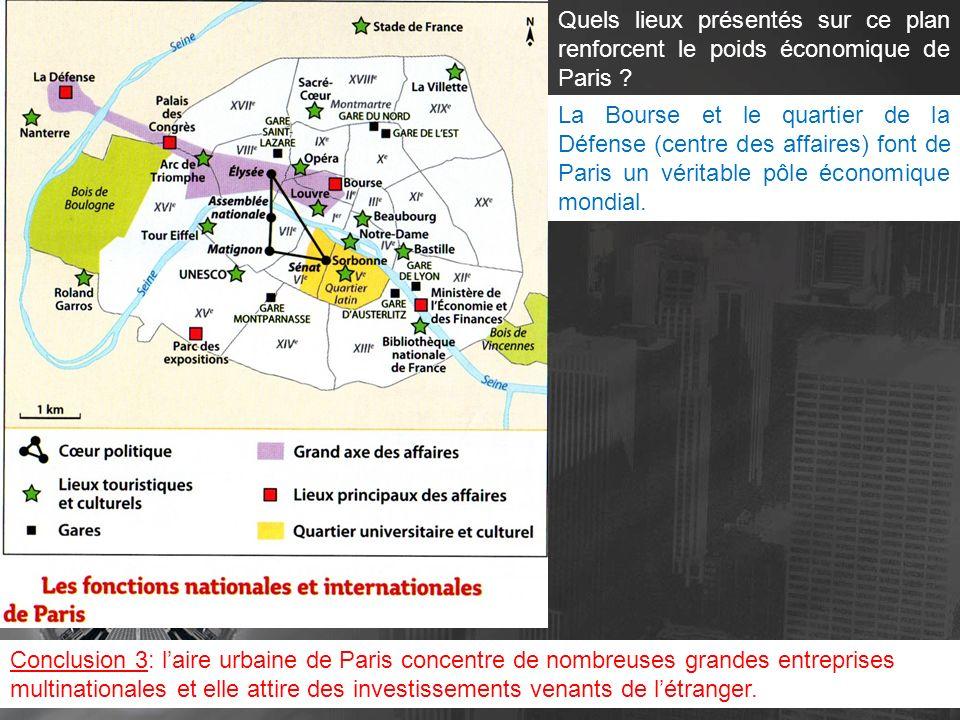 Quelles autres fonctions visibles sur la plan tendent à faire de Paris et de sa région un espace attractif .
