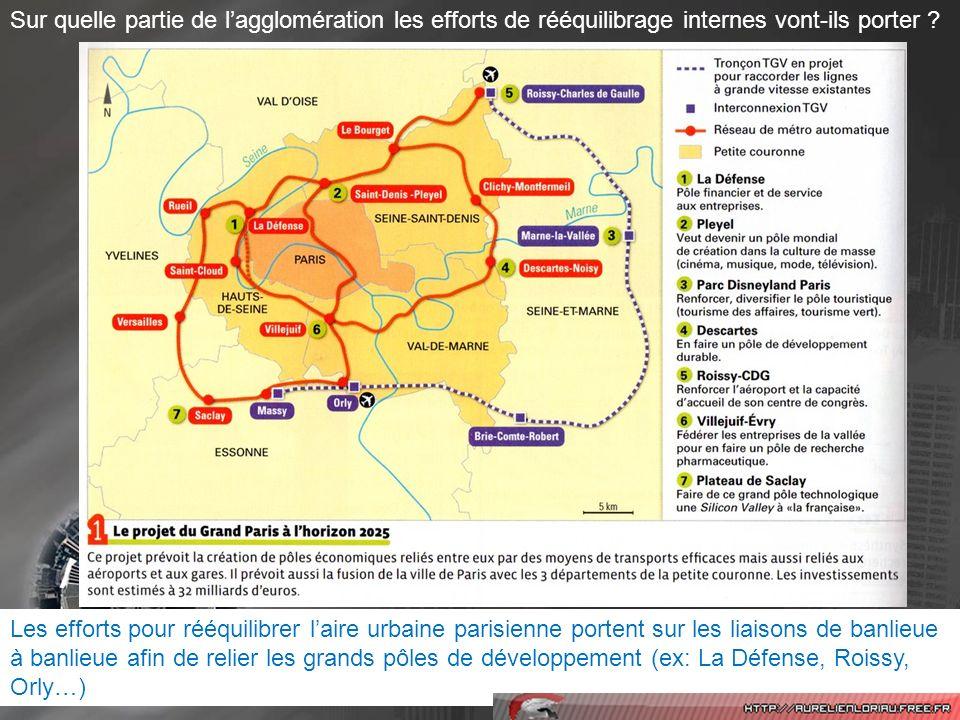 Conclusion 6: Grâce aux aménagements réalisés sous limpulsion dacteurs politiques, laccessibilité aux différents lieux de laire urbaine parisienne doit être améliorée.