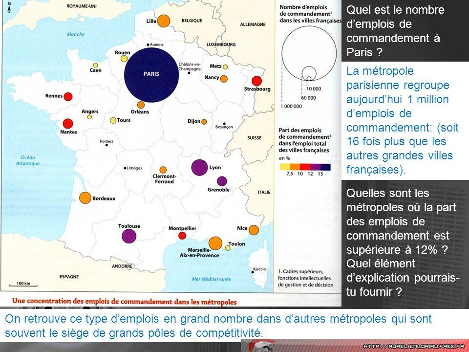 Quels éléments donnés par le texte expliquent la concentration des entreprises dans la région parisienne .