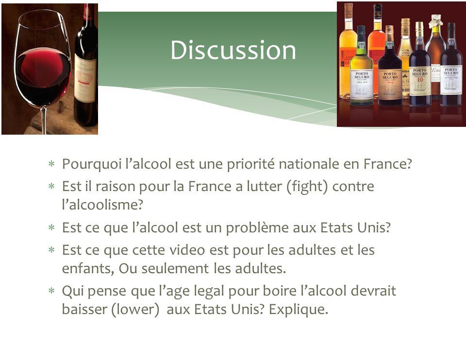 Pourquoi lalcool est une priorité nationale en France.