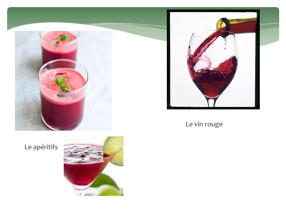 Le apéritifs Le vin rouge