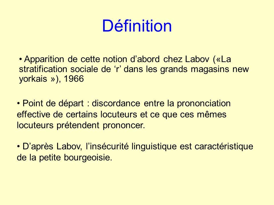 Définition Point de départ : discordance entre la prononciation effective de certains locuteurs et ce que ces mêmes locuteurs prétendent prononcer.