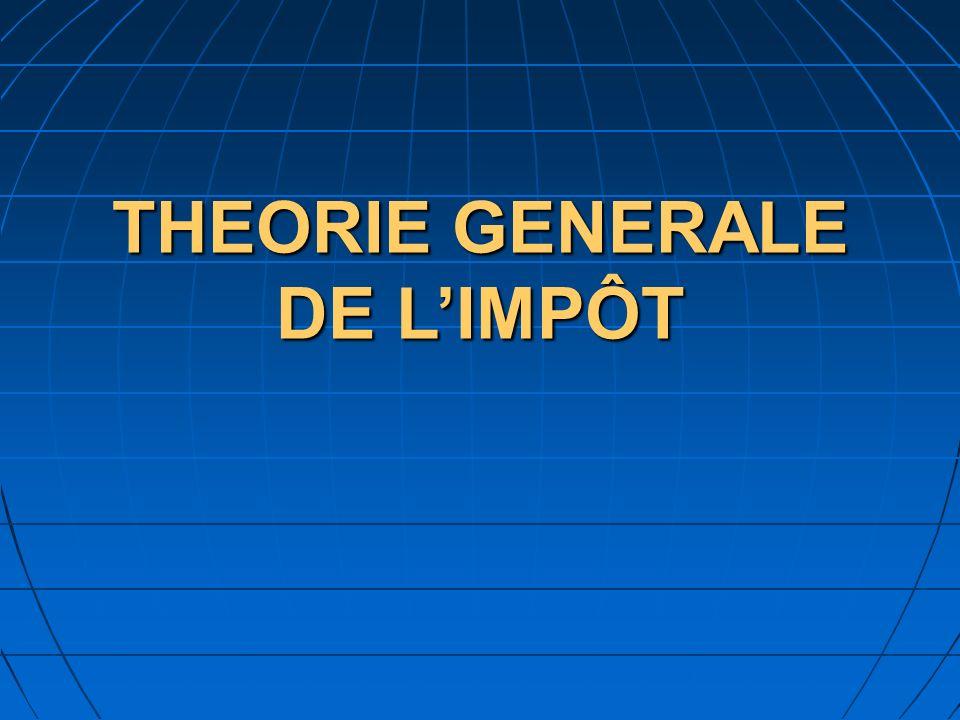 THEORIE GENERALE DE LIMPÔT