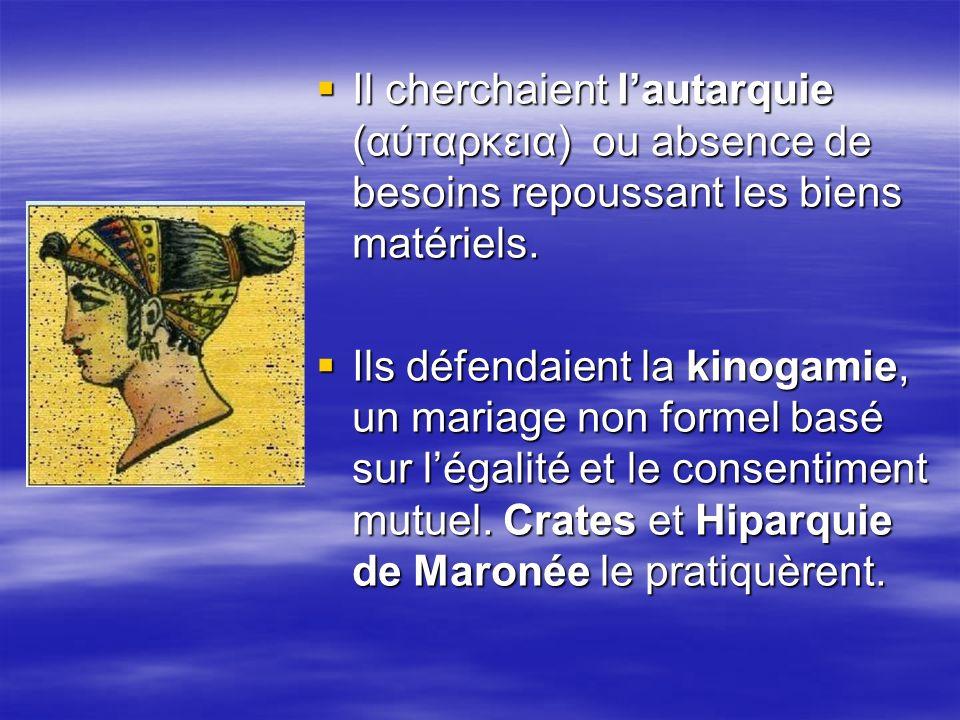 On raconte que Diogènes avait lhabitude de pratiquer des actes indécents en public et quil vivait dans un tonneau.
