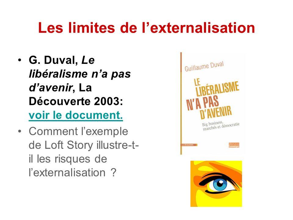 Les limites de lexternalisation G.