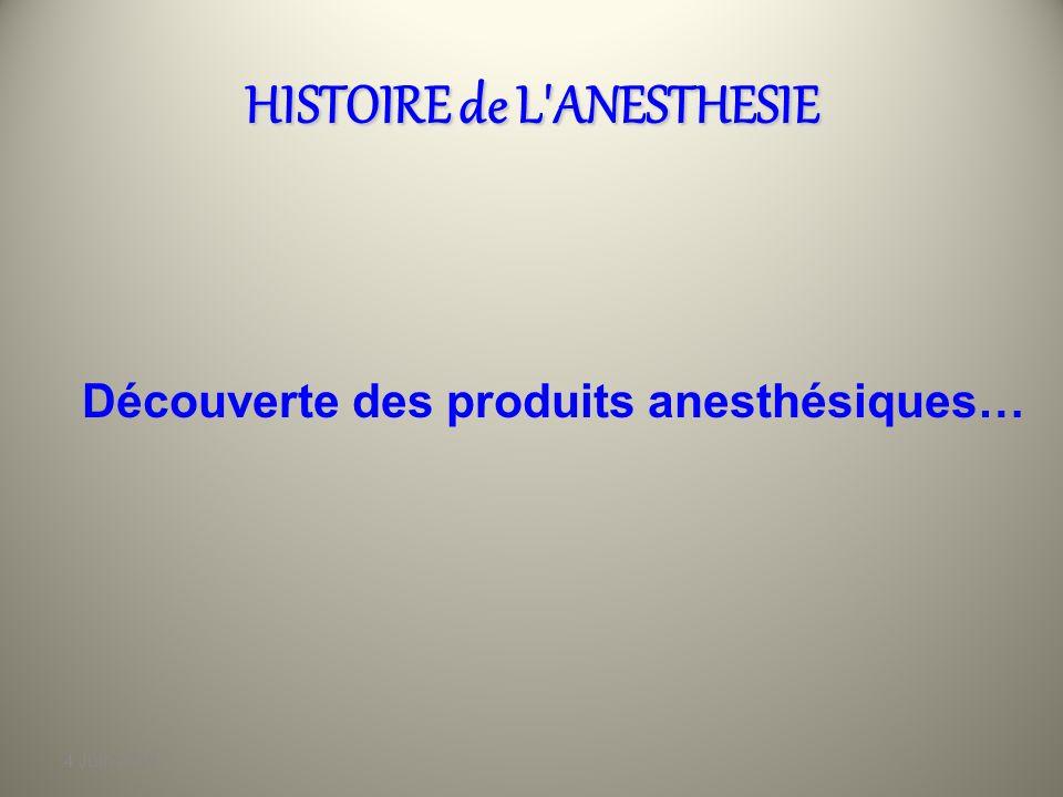 4 Juin 2010 HISTOIRE de L'ANESTHESIE On peut citer aussi Dominique Larrey, le chirurgien de Napoléon qui constate, pendant la retraite de Russie, que