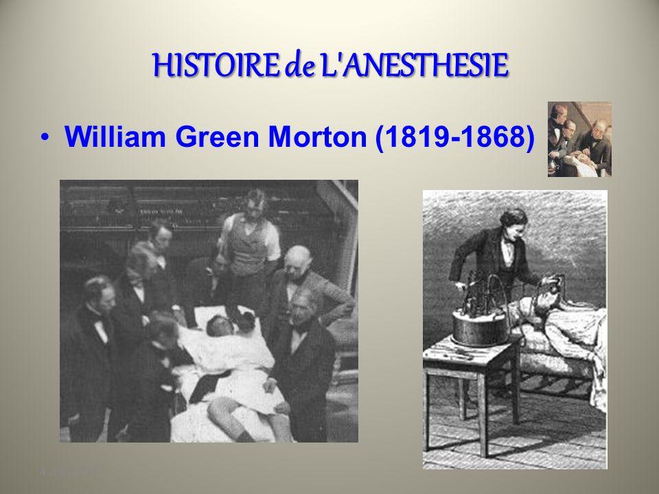 4 Juin 2010 HISTOIRE de L'ANESTHESIE Michael Faraday(1791-1867) En 1818, ce jeune préparateur en pharmacie découvre les pouvoirs narcotiques des vapeu