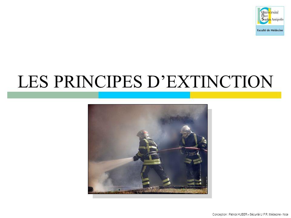 Conception : Patrick HUBER – Sécurité U.F.R. Médecine - Nice LES PRINCIPES DEXTINCTION