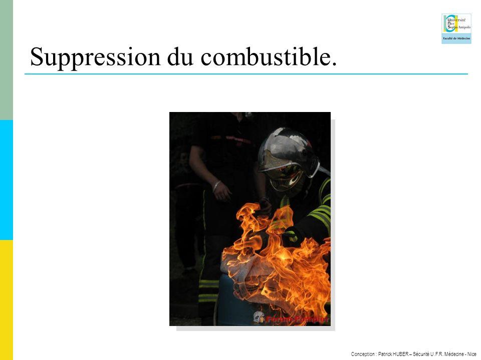 Conception : Patrick HUBER – Sécurité U.F.R. Médecine - Nice Suppression du combustible.