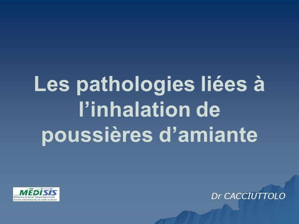 Les pathologies liées à linhalation de poussières damiante Dr CACCIUTTOLO