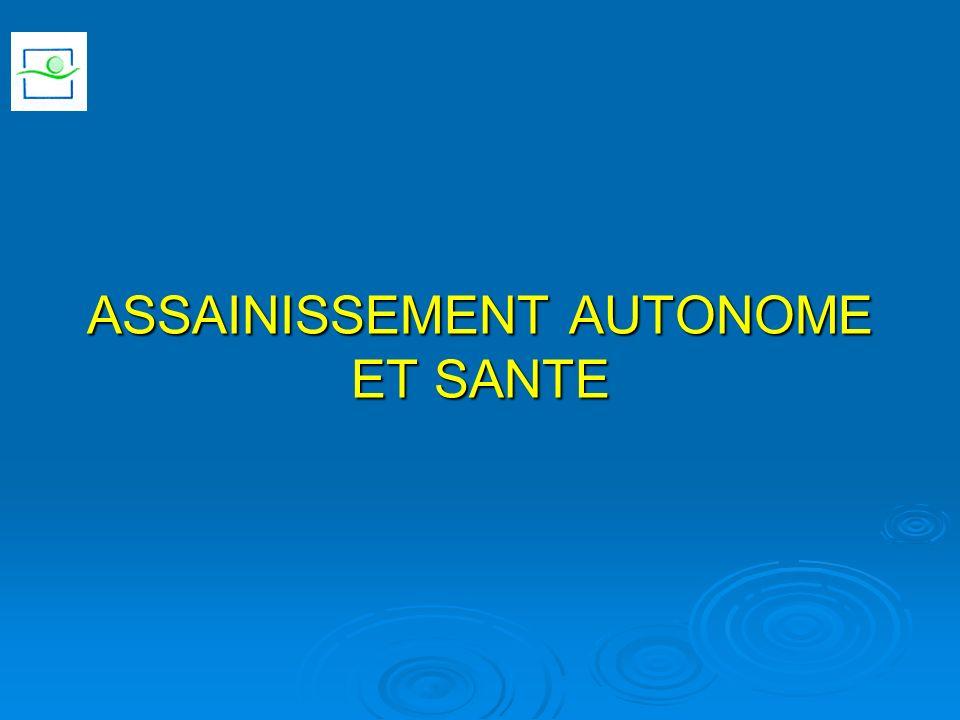 ASSAINISSEMENT AUTONOME ET SANTE