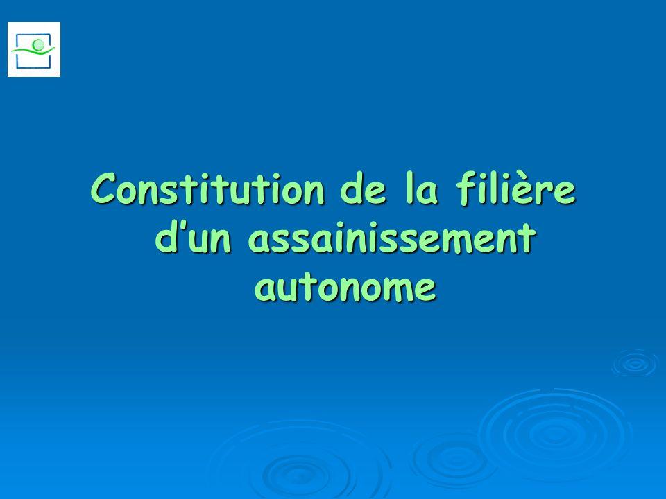 Constitution de la filière dun assainissement autonome