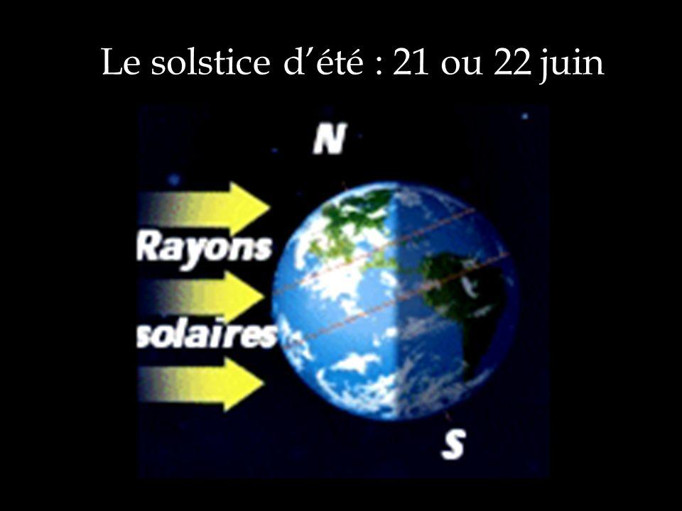 Le solstice dété : 21 ou 22 juin