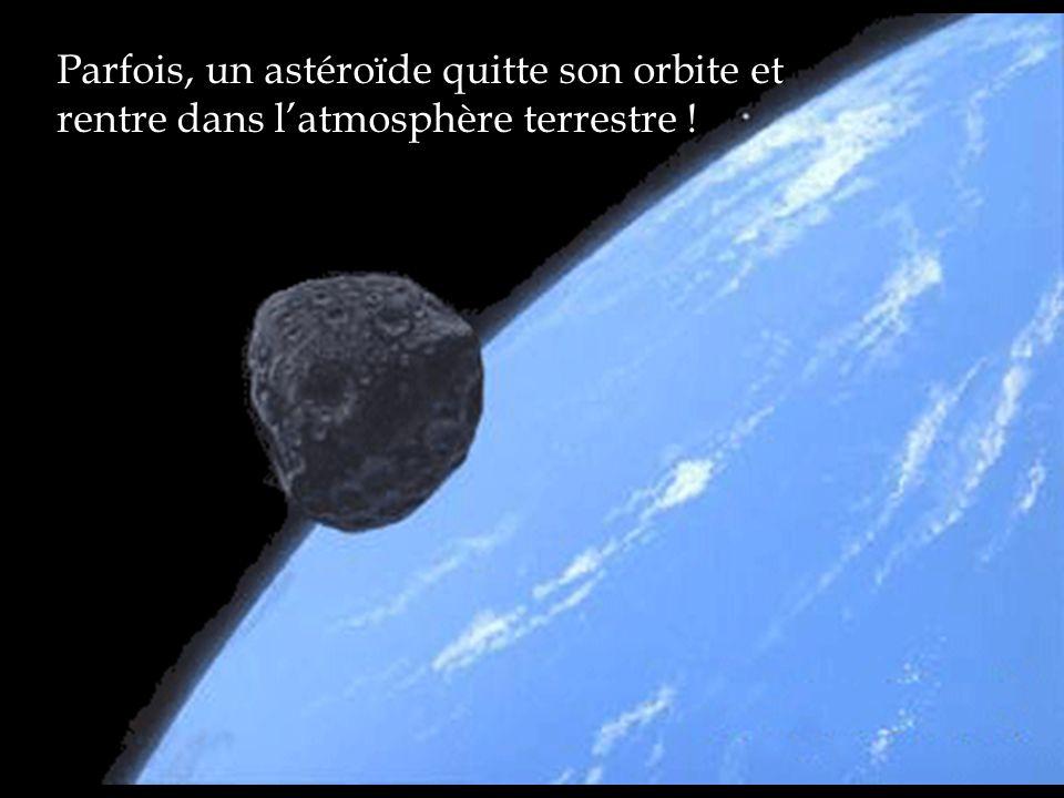 Parfois, un astéroïde quitte son orbite et rentre dans latmosphère terrestre !