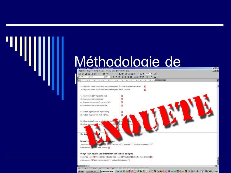 Méthodologie de lenquête statistique