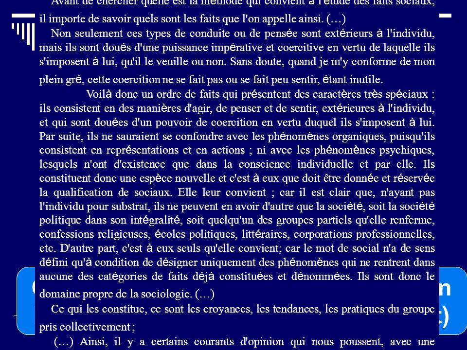 Le rôle des statistiques : Lapproche dEmile Durkheim Quel rôle jouent les statistiques selon Durkheim .