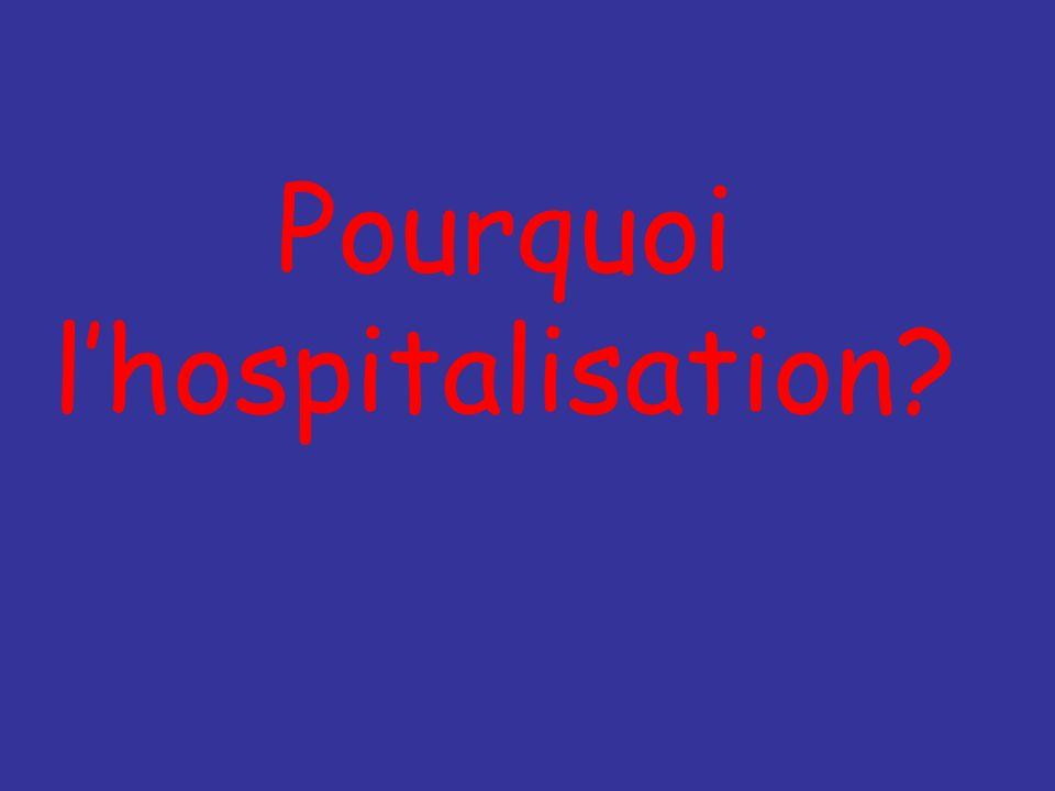 Pourquoi lhospitalisation?