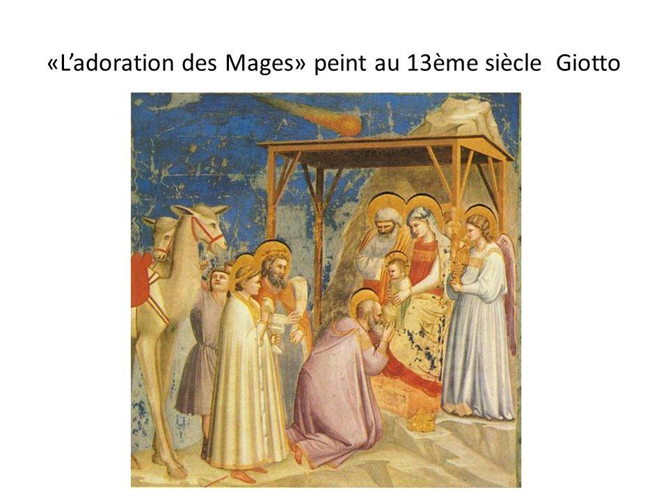«Ladoration des Mages» peint au 13ème siècle Giotto