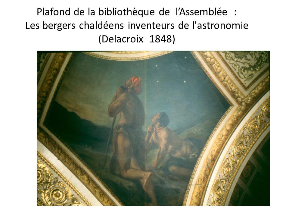 Plafond de la bibliothèque de lAssemblée : Les bergers chaldéens inventeurs de l'astronomie (Delacroix 1848)
