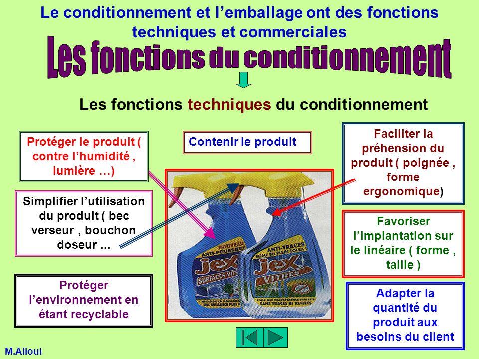 Le conditionnement et lemballage ont des fonctions techniques et commerciales Les fonctions techniques du conditionnement Contenir le produitProtéger