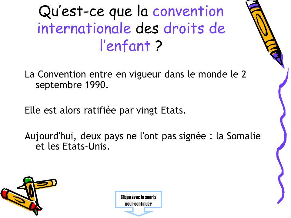 Quest-ce que la convention internationale des droits de lenfant .