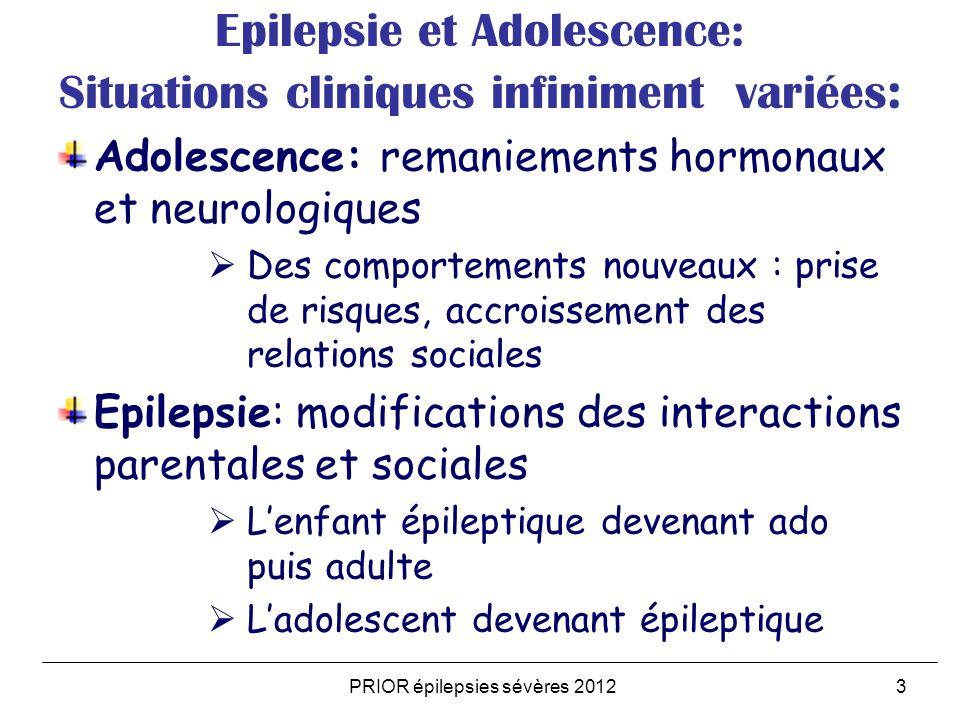 Epilepsie et Adolescence: Situations cliniques infiniment variées : Adolescence: remaniements hormonaux et neurologiques Des comportements nouveaux :