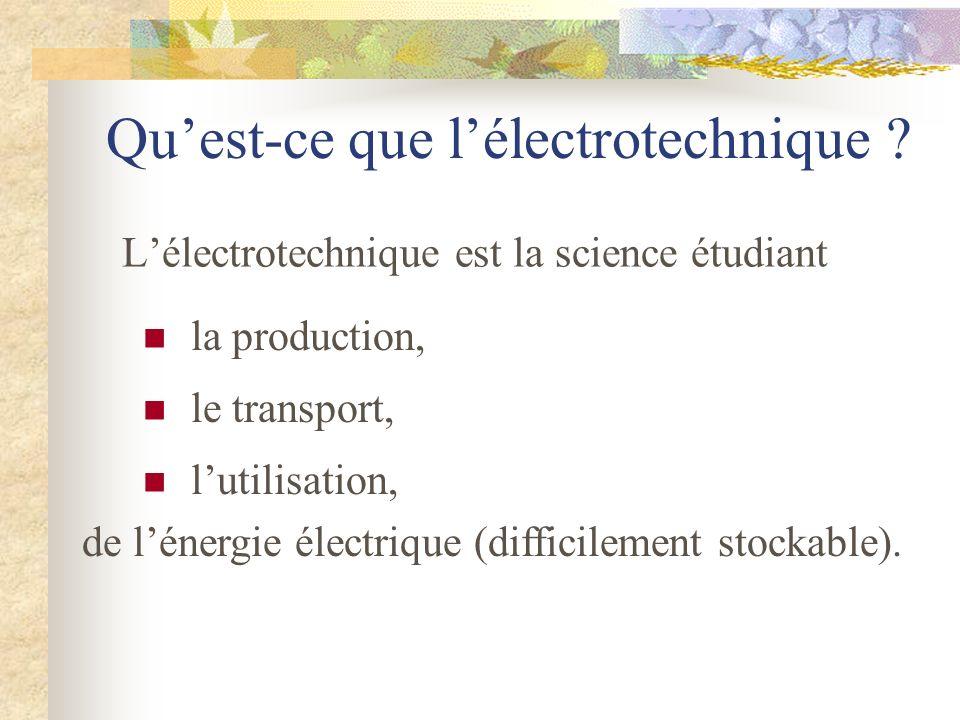 Quest-ce que lélectrotechnique ? Lélectrotechnique est la science étudiant la production, le transport, lutilisation, de lénergie électrique (difficil