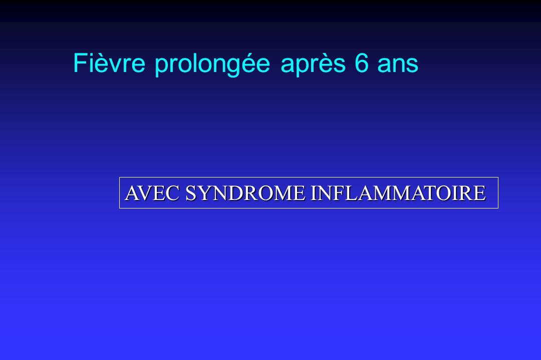 AVEC SYNDROME INFLAMMATOIRE