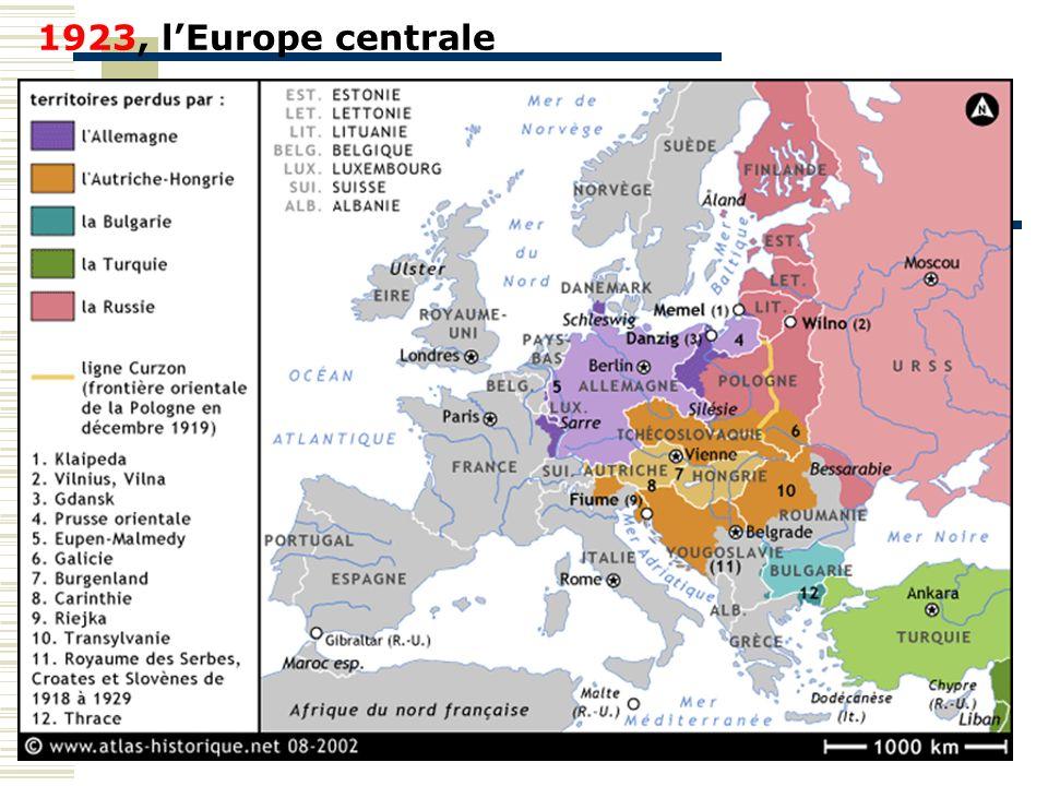 1923, lEurope centrale