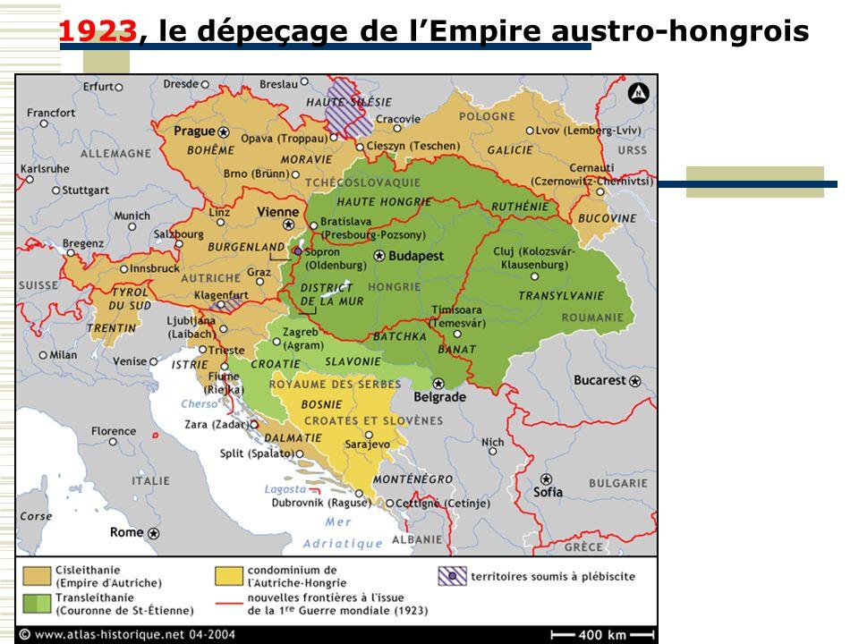 1923, le dépeçage de lEmpire austro-hongrois