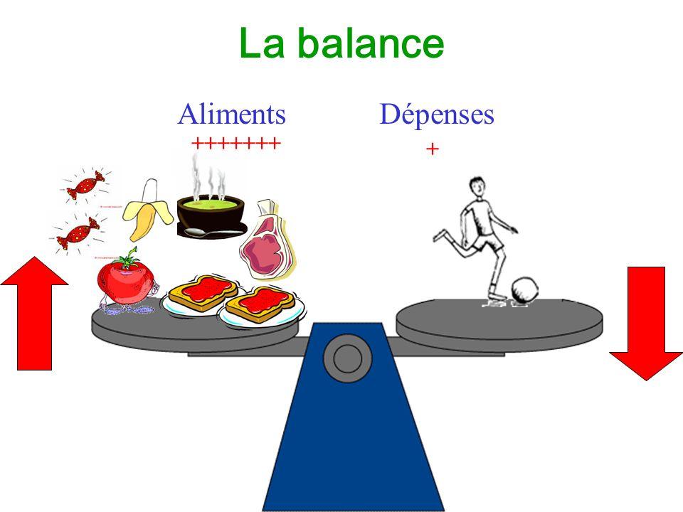 La balance Aliments Dépenses + +++++++