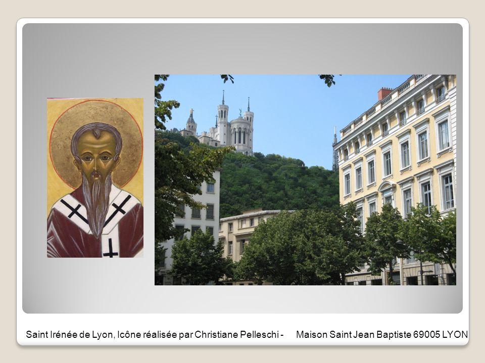 Saint Irénée de Lyon, Icône réalisée par Christiane Pelleschi - Maison Saint Jean Baptiste 69005 LYON