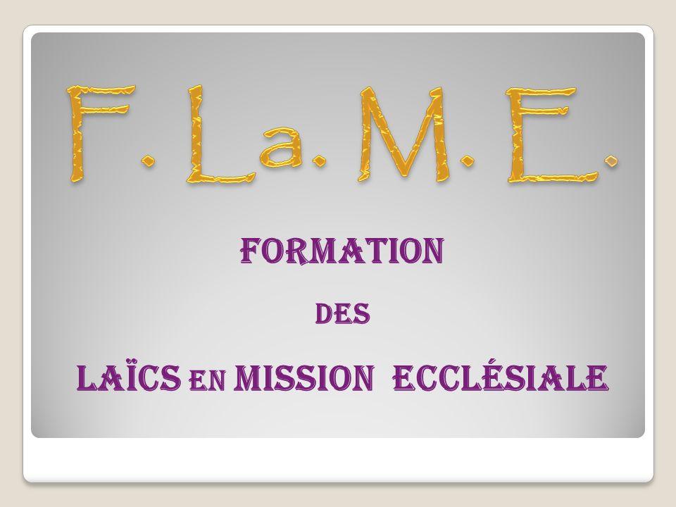 Formation DES Laïcs en Mission Ecclésiale