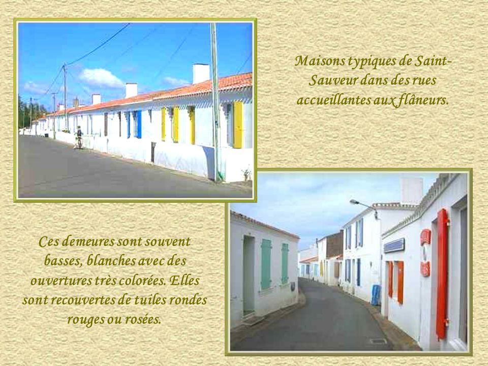 Maisons typiques de Saint- Sauveur dans des rues accueillantes aux flâneurs.