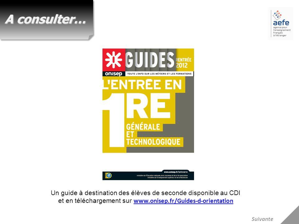 Un guide à destination des élèves de seconde disponible au CDI et en téléchargement sur www.onisep.fr/Guides-d-orientation www.onisep.fr/Guides-d-orie