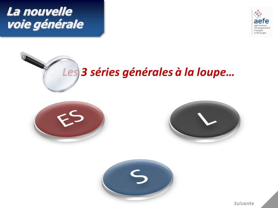 Les 3 séries générales à la loupe… La nouvelle voie générale Suivante