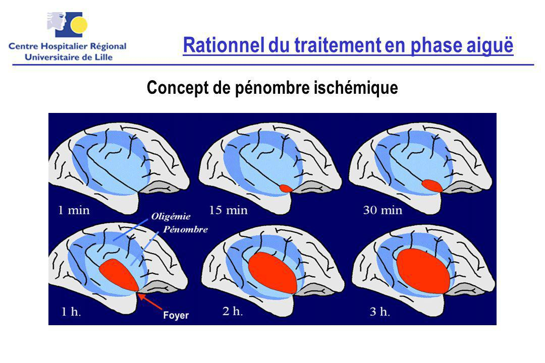 Rationnel du traitement en phase aiguë Concept de pénombre ischémique