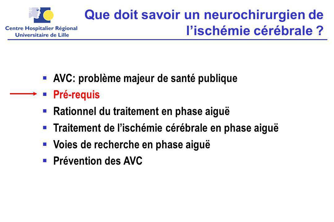 Que doit savoir un neurochirurgien de lischémie cérébrale .