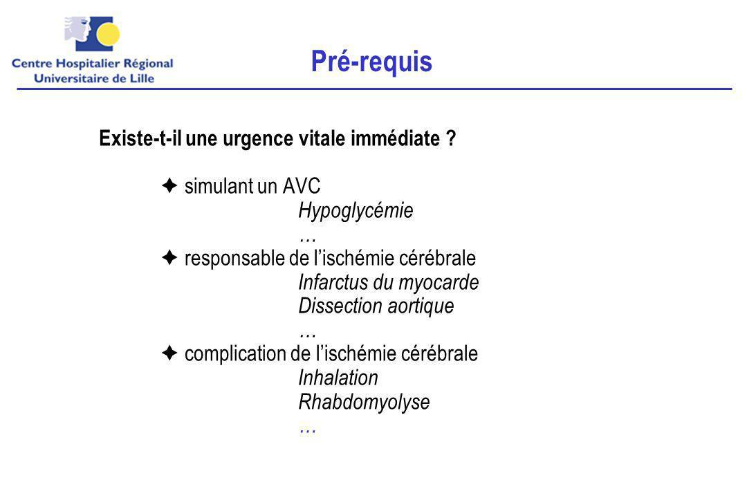 PerfusionDiffusionTOFT2 Ischémie cérébrale < 2 heures Thrombolyse après IRM