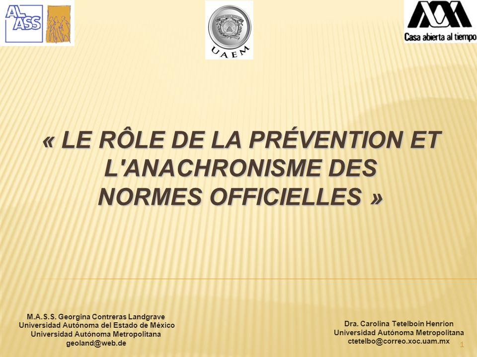 2 Identifier la clarté et la spécificité des actions préventives des Normes Officielles de Santé émises par le Secrétariat de Santé.