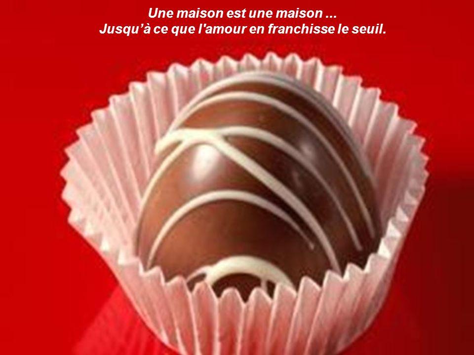 L amour c est le chocolat du coeur