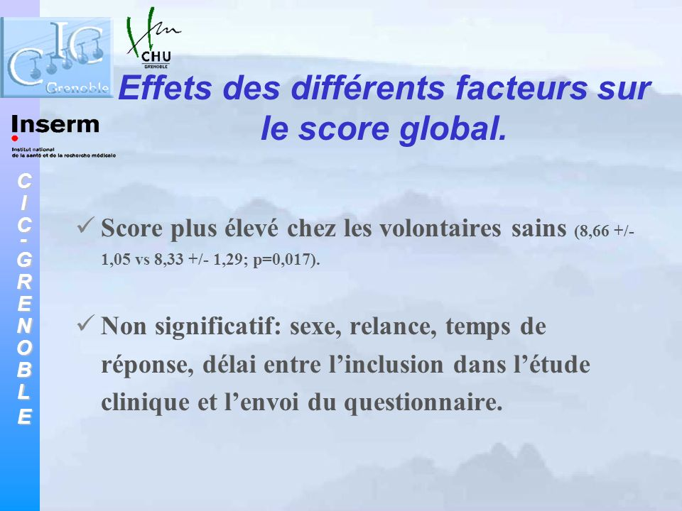CIC-GRENOBLE Analyse des questions n = 292