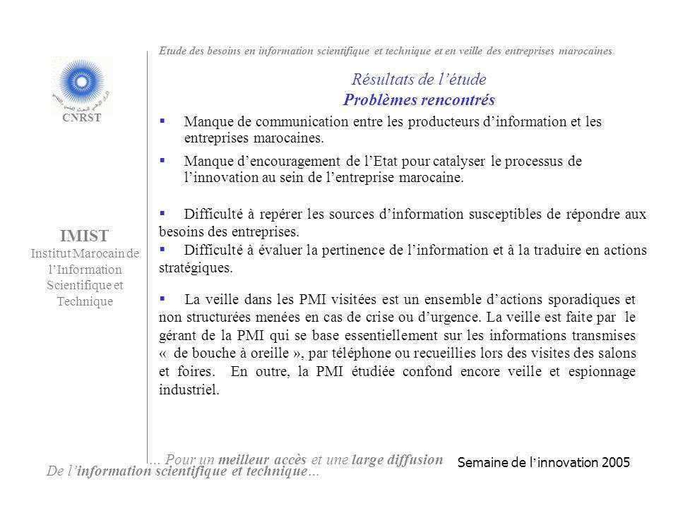 Manque de communication entre les producteurs dinformation et les entreprises marocaines.