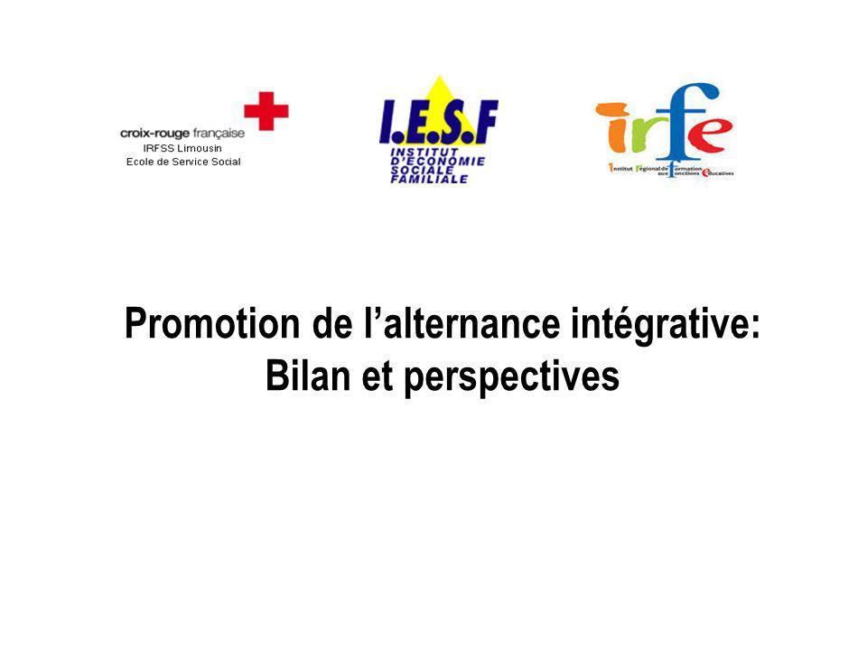 Promotion de lalternance intégrative: Bilan et perspectives