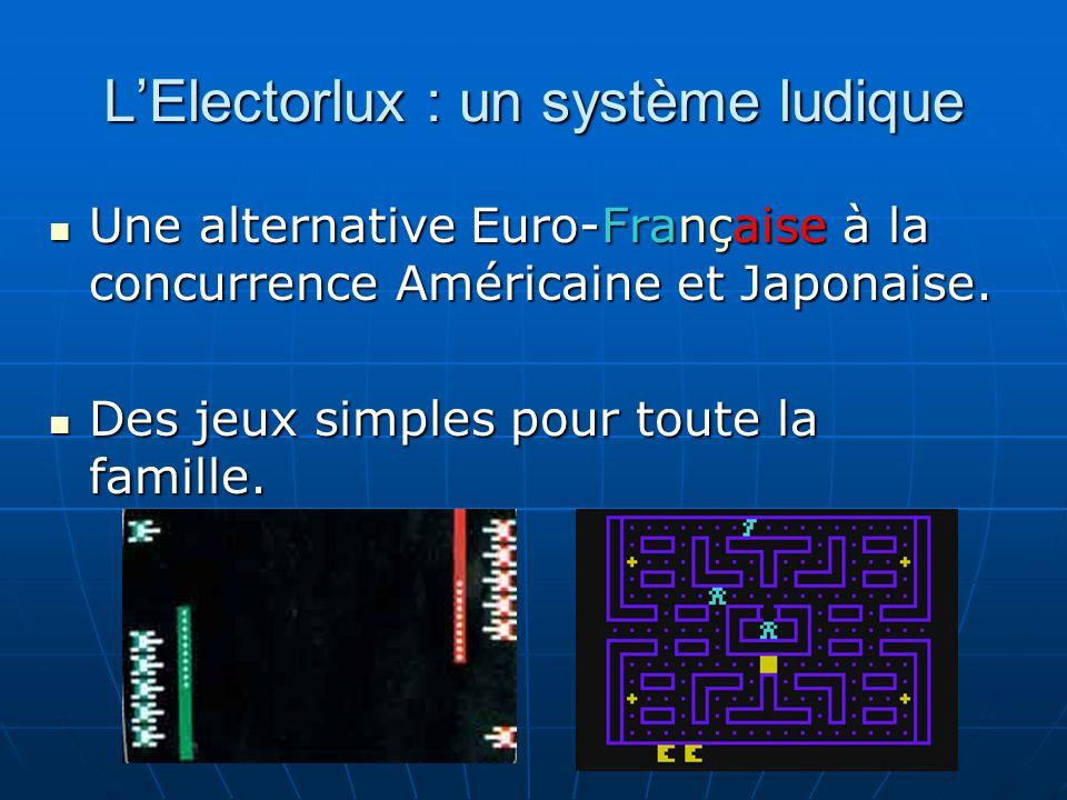 LElectorlux : un système ludique Une alternative Euro-Française à la concurrence Américaine et Japonaise.