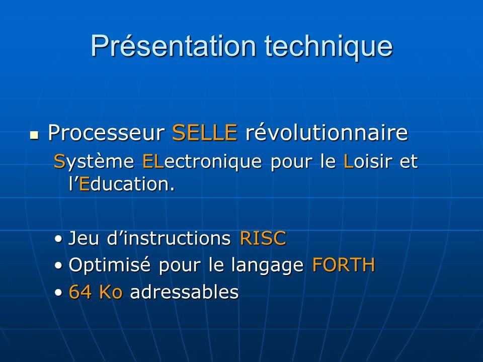 Présentation technique Processeur SELLE révolutionnaire Processeur SELLE révolutionnaire Système ELectronique pour le Loisir et lEducation.