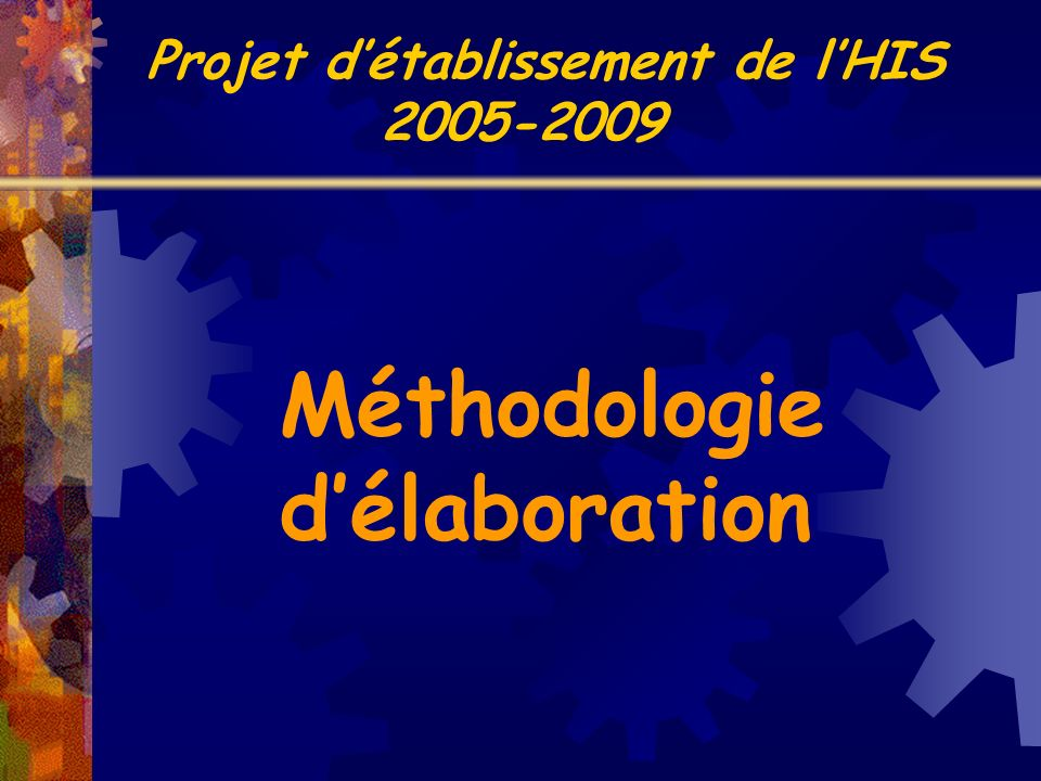Méthodologie délaboration